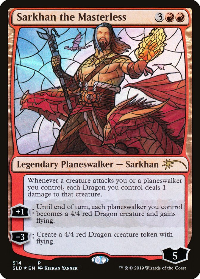 *MtG: FOIL SARKHAN THE MAD from Mystery Booster * Rise of the Eldrazi Mythic